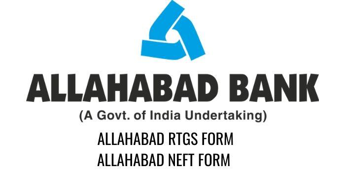 ALLAHABAD bank RTGS NEFT FORM PDF