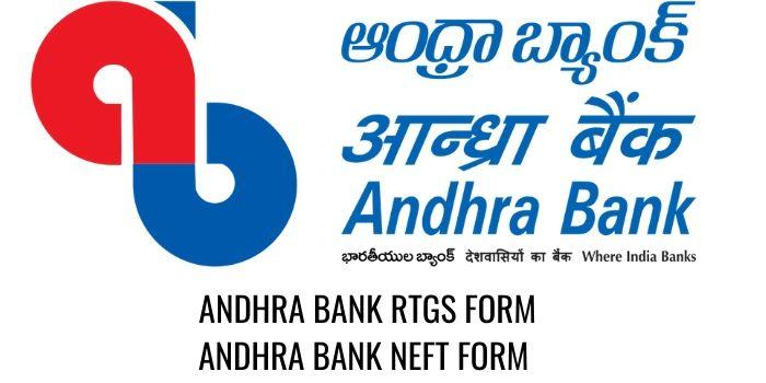 ANDHRA Bank RTGS NEFT FORM PDF