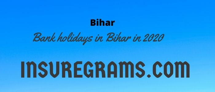 Bank holidays in Bihar