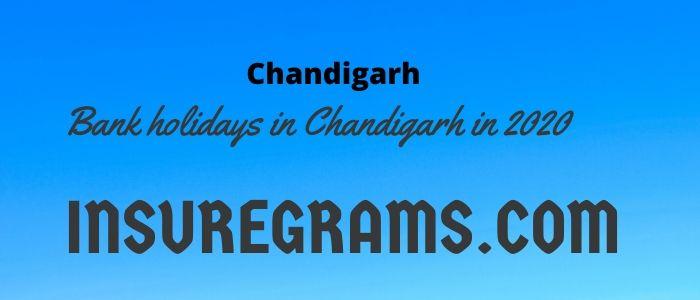 Bank holidays in chandigarh