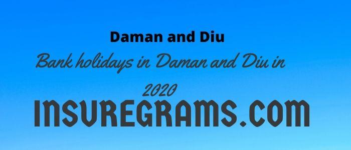 Bank holidays in daman and diu