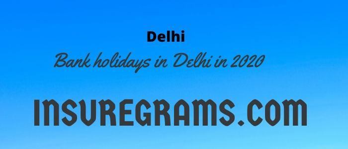 bank holidays in delhi