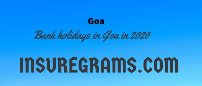 Bank holidays in goa