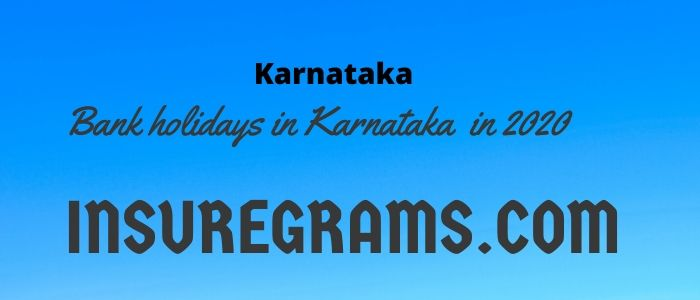 Bank holidays in karnataka