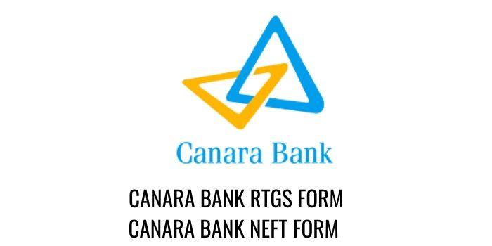 CANARA bank RTGS CANARA NEFT FORM PDF