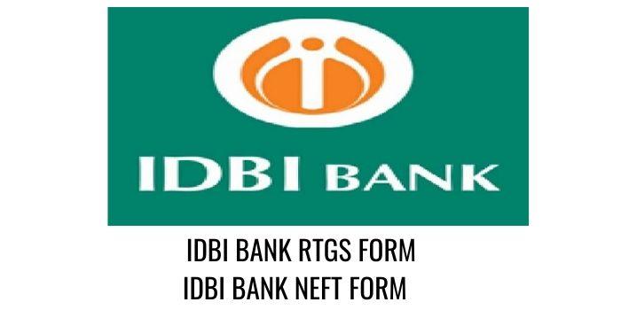 IDBI Bank RTGS NEFT FORM PDF