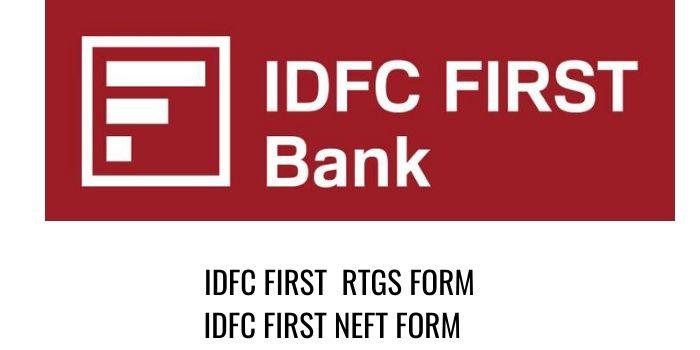 IDFC Bank RTGS IDFC NEFT FORM PDF