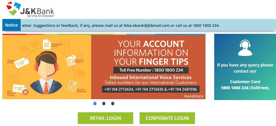 JK bank online