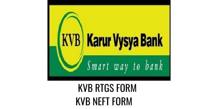 karur vysya bank KVB RTGS NEFT FORM PDF