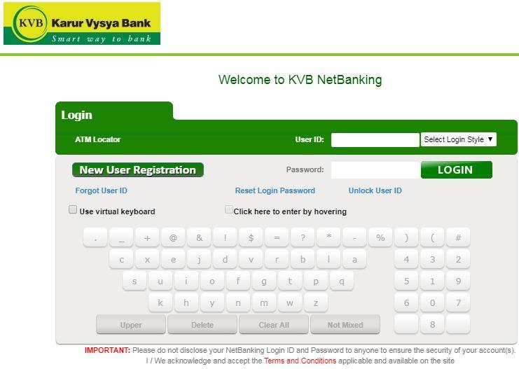 KVB net Bank