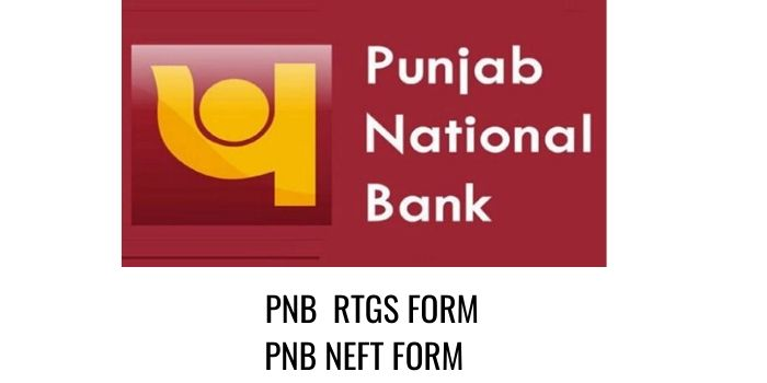 PNB Punjab National Bank RTGS NEFT FORM PDF