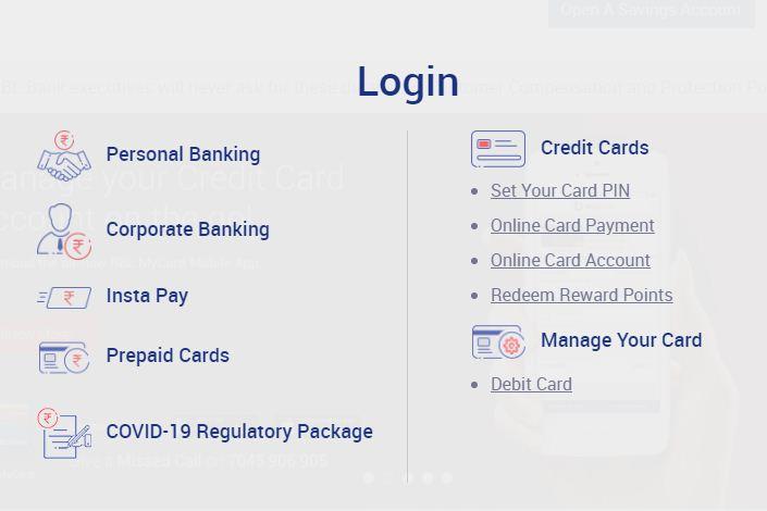 rbl bank net banking login