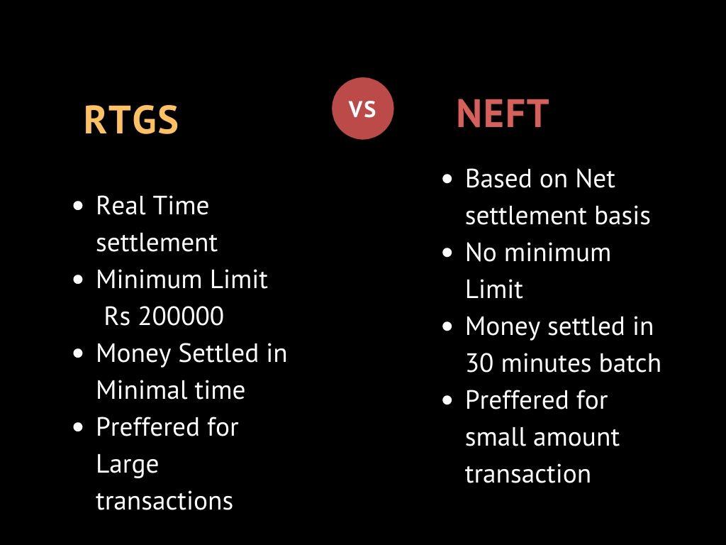 RTGS vs NEFT