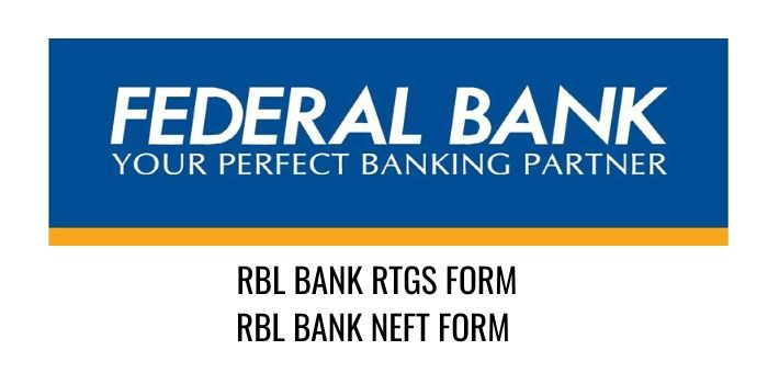 federal bank RTGS NEFT FORM PDF