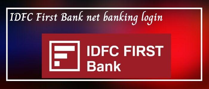idfc net banking login
