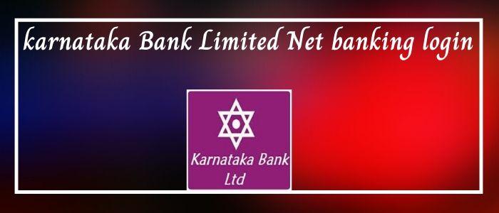 karnataka bank net banking login