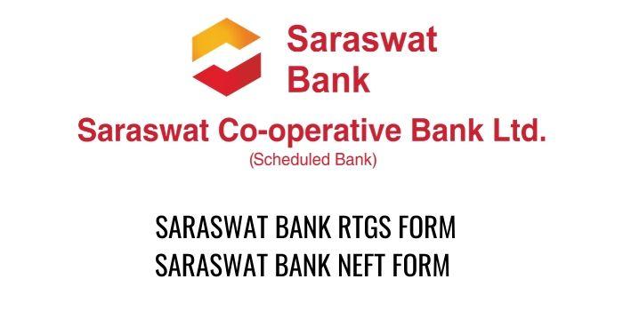 saraswat bank RTGS NEFT FORM PDF