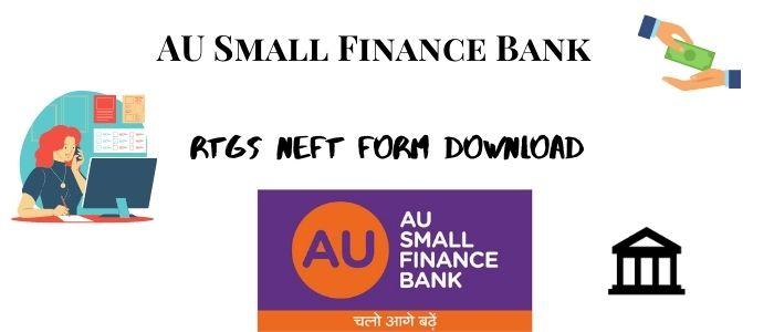 AU Bank RTGS NEFT