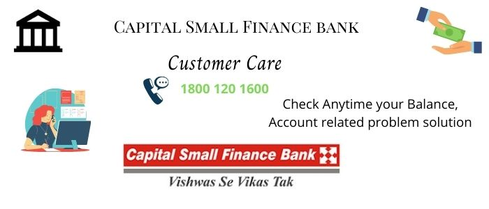 Capital Small Finance Bank Customer Care Number