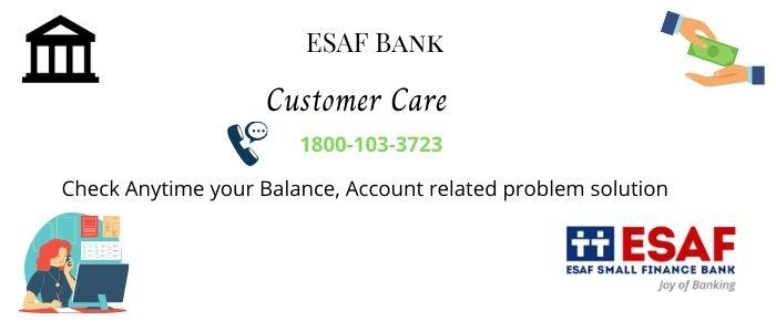 ESAF Bank Customer Care Number