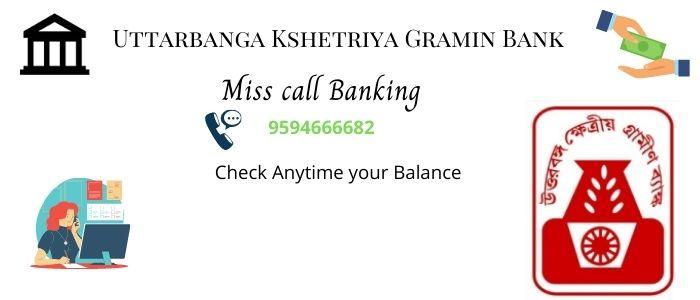 Uttar banga Kshetriya Gramin Bank balance check number