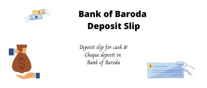 BOB Deposit Slip