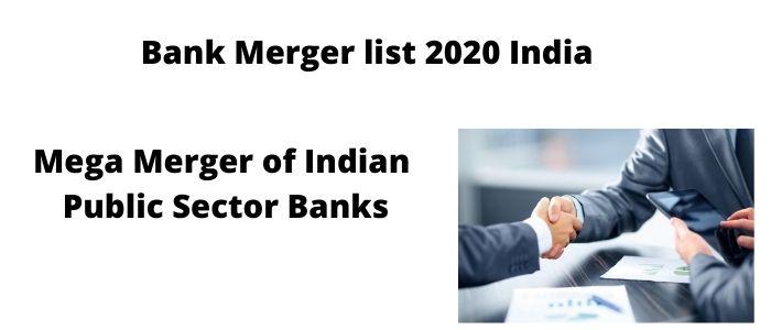 Bank Merger List 2020 India PDF