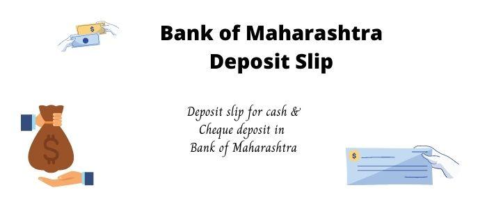 Bank of Maharashtra Deposit Slip