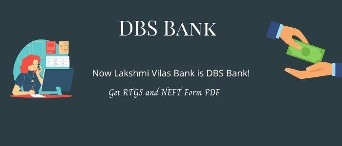 DBS Bank RTGS NEFT Form PDF