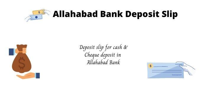 allahabad bank deposit slip