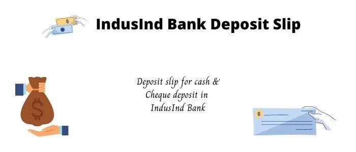 indusind bank deposit slip