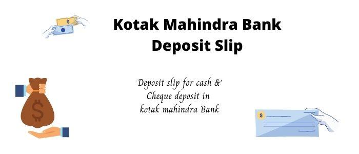 kotak mahindra bank deposit slip