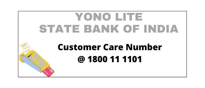 Yono Lite SBI Customer Care Number