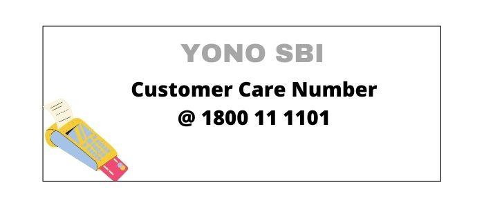 SBI Yono Customer Care Number